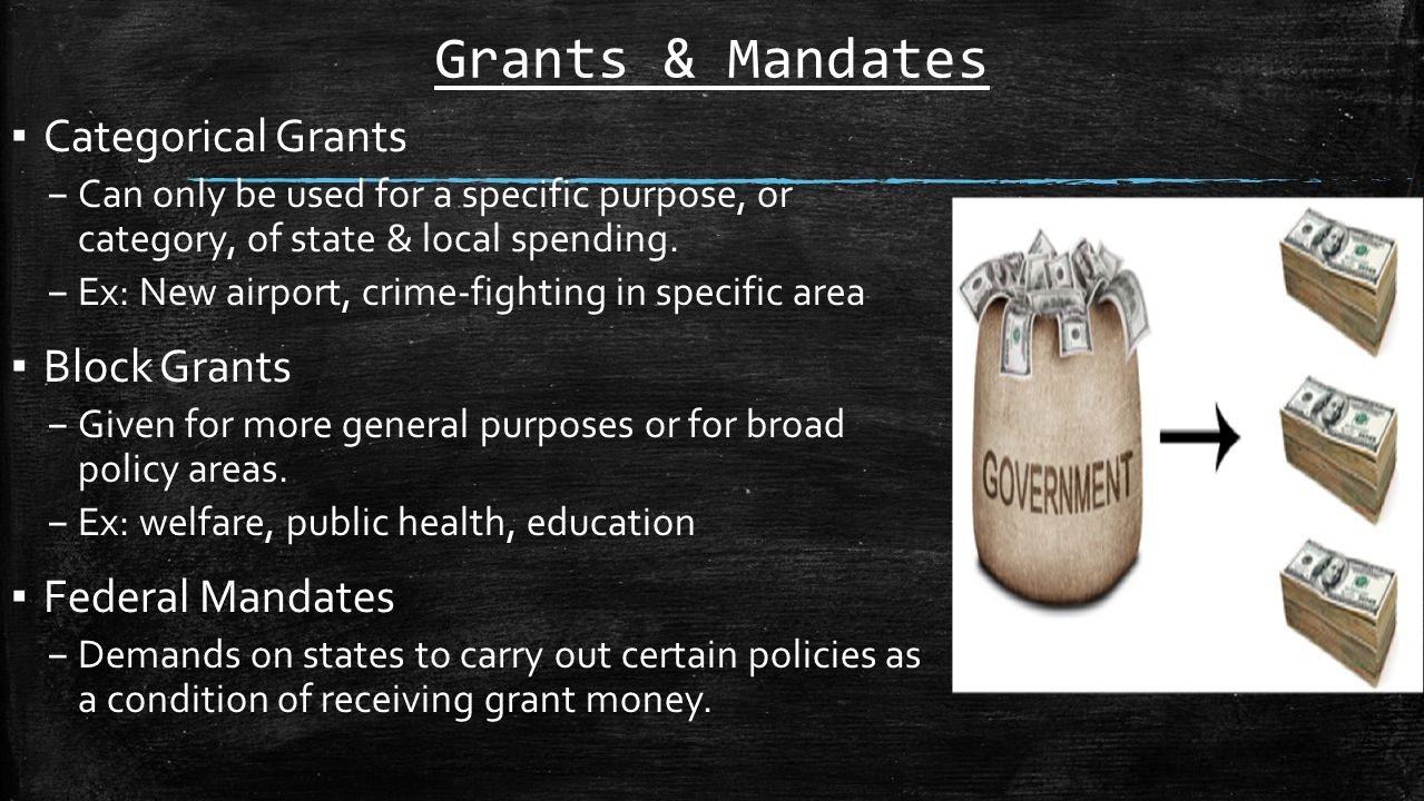 ap government block grants and federal mandates Block grants and federal mandates ap us government and politics chapter 9 ap us government and politics chapter 6 ap us government and politics chapter 7.