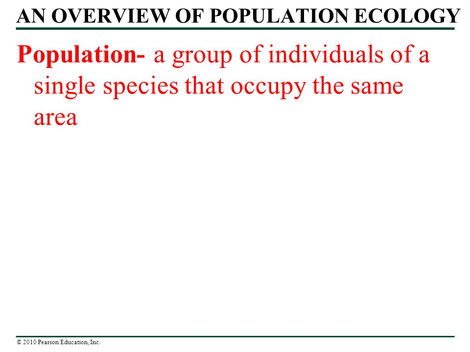 Chapter 36 Population Ecology. - ppt download