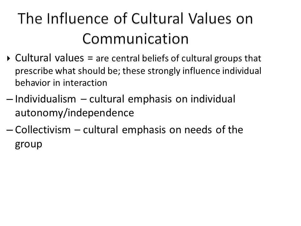 influence of culture on communication Gender influences on communication although we may think that our surroundings and upbringings are the influence on how we communicate, there is.