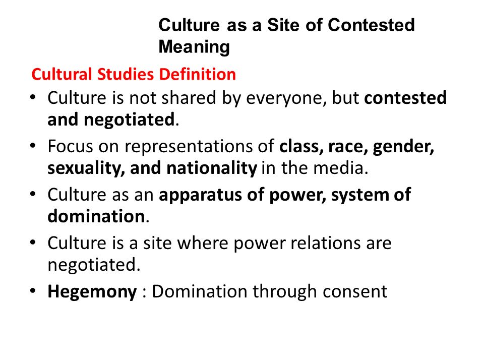 Define cultural domination