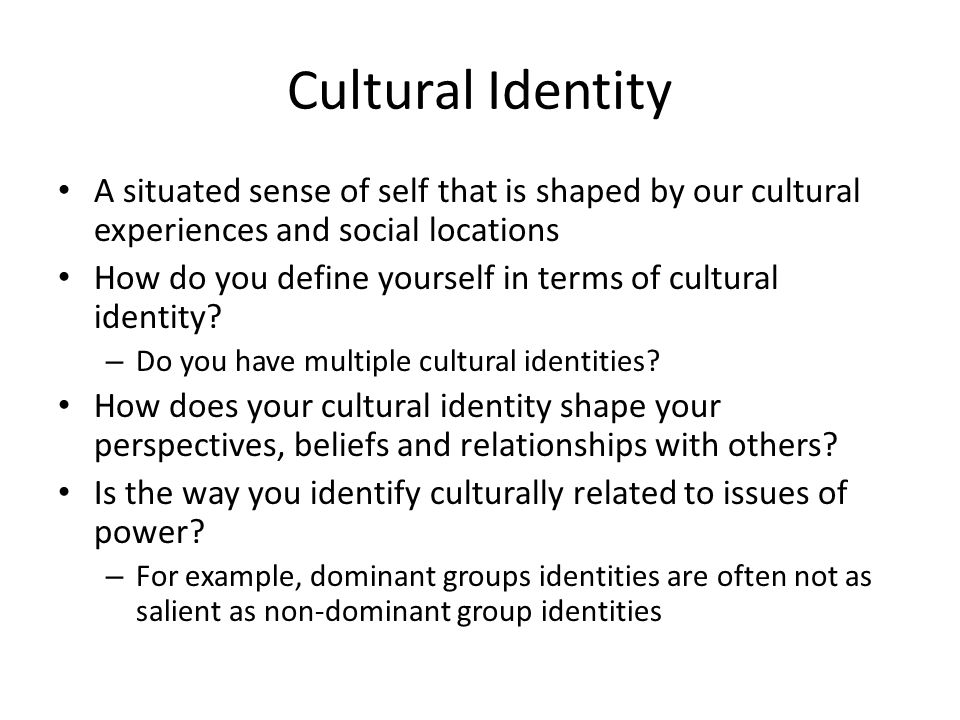 how does culture define our individuality Through culture we learn what is expected of us and act accordingly the way  we percieve the world can be effected by the lens our culture naturally views it by.