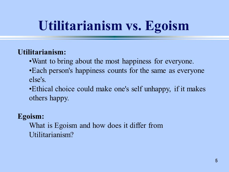 ethics utilitarianism Utilitarianism - doctrine that the useful is the good especially as elaborated by jeremy bentham and james mill the aim was said to be the greatest happiness for the greatest number doctrine , ism , philosophical system , philosophy , school of thought - a belief (or system of beliefs) accepted as authoritative by some group or school.