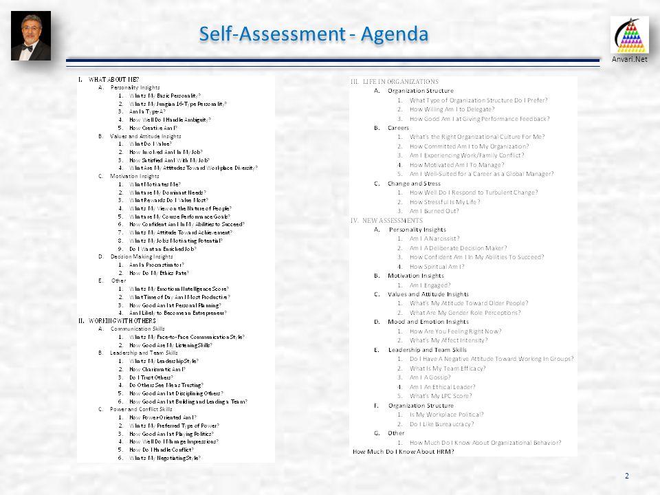 Self assessment and positive psychology organizational behavior 2 self assessment agenda solutioingenieria Image collections