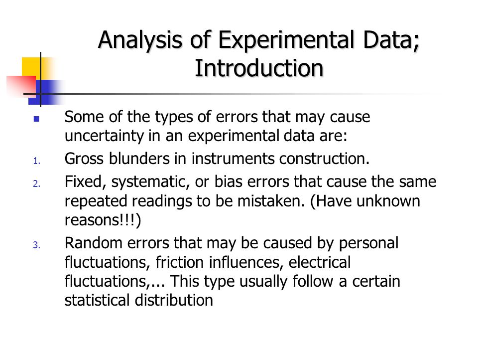 statistical analysis of experimental density data Statistical analysis of data in the general chemistry laboratory  in synthetic  copper carbonate: a statistical comparison of experimental and expected  results.