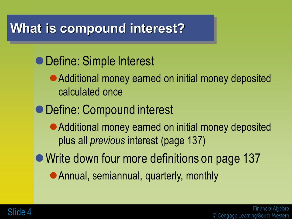 compound interest compound Get advice when it comes to understanding what simple and compound interest is, including how it can affect your payments.