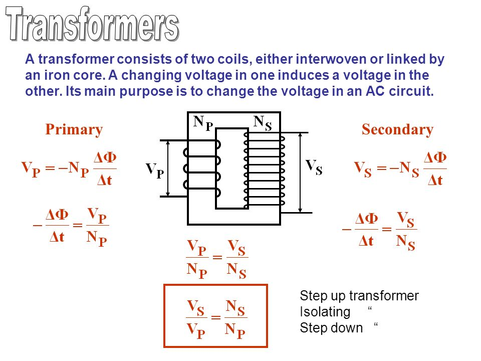 Mutual Inductance As In A Transformer Changing The