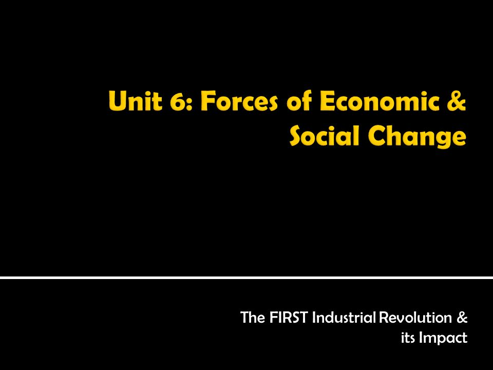 social and economic changes during industrial These changes had a massive impact on people's social and  the industrial  revolution generally brought about much better economic.