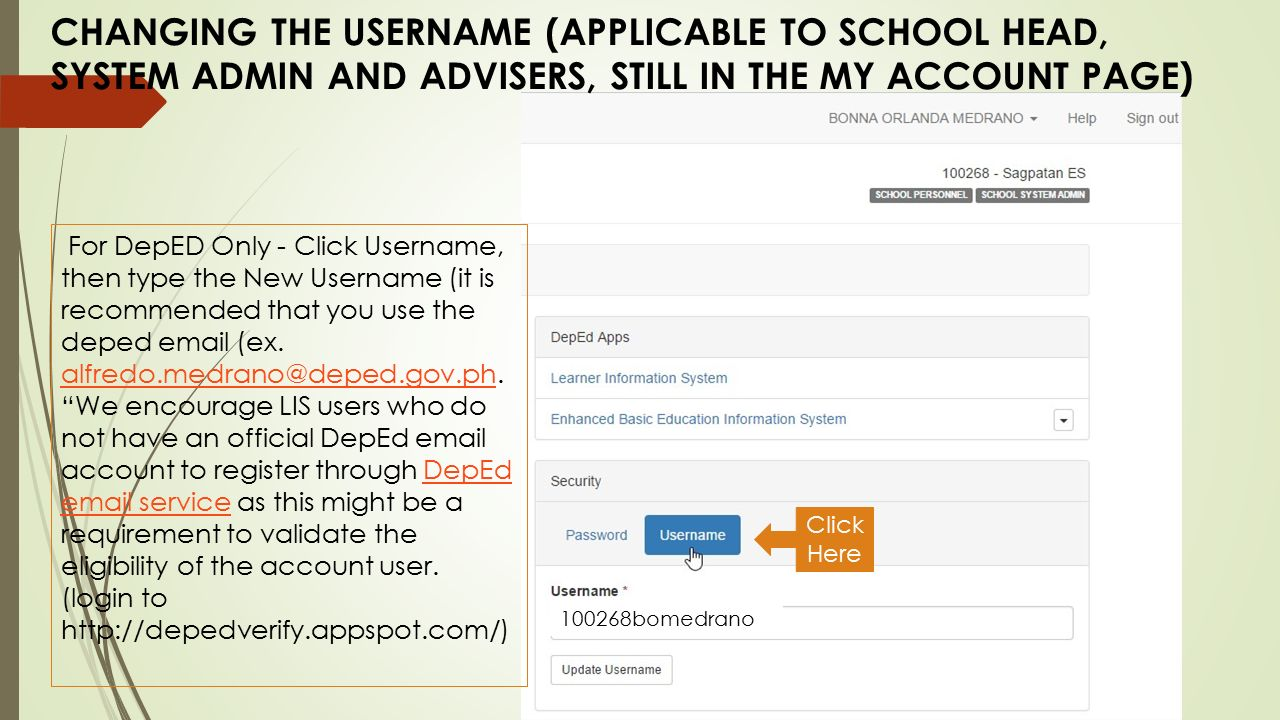 how to use admin is goodle username