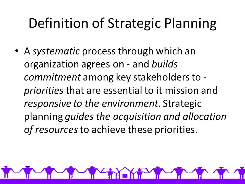 strategic business planning definition