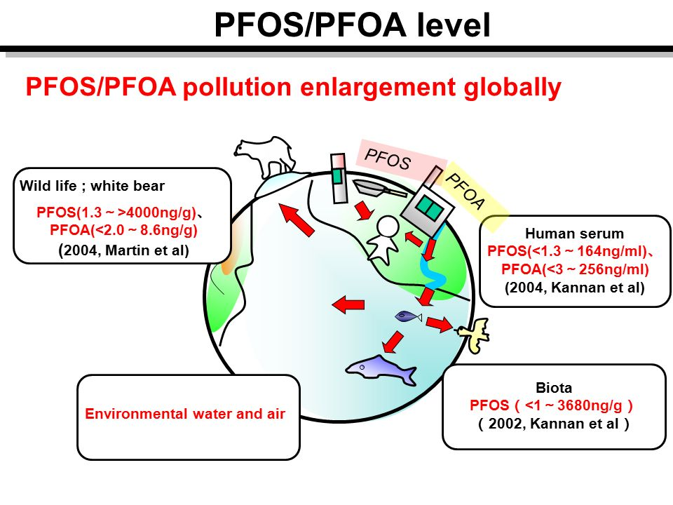 PFOS/PFOA level PFOS/PFOA pollution enlargement globally PFOS PFOA