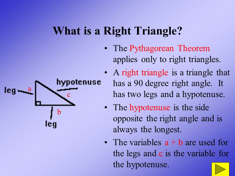 how to know which sides are used for pythagorean theorem