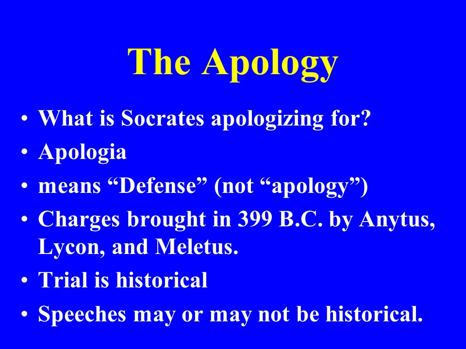 an analysis of the apology from socrates