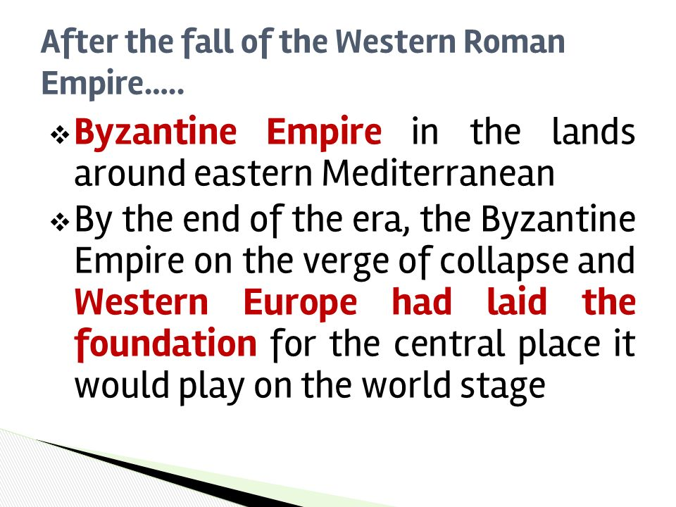 the fall of the western roman The decline and fall of the roman empire the roman empire was a beautiful place ruled by augustus the borders of the empire during the pax romana measured 10,000 miles and enclosed an area of more than 3 million square miles, that's about the size of the united states today.