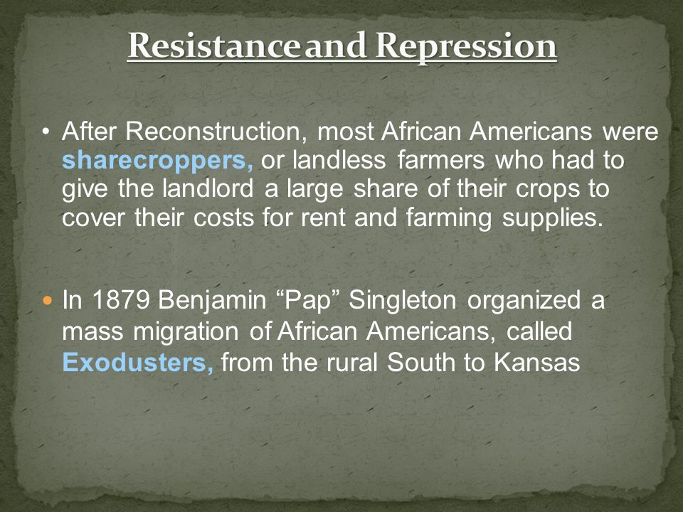 Resistance and Repression