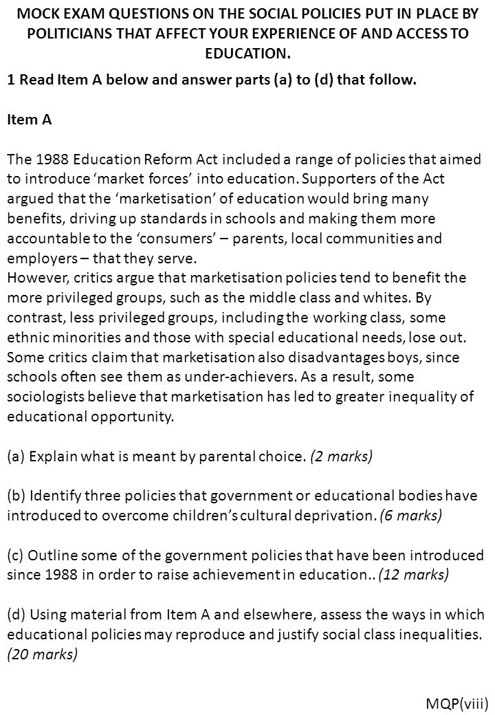 an outline of some ways in which material deprivation may affect educational achievement Outline of the core relationships in the capability approach  how one individual's freedom may affect  do go at least some way to a.