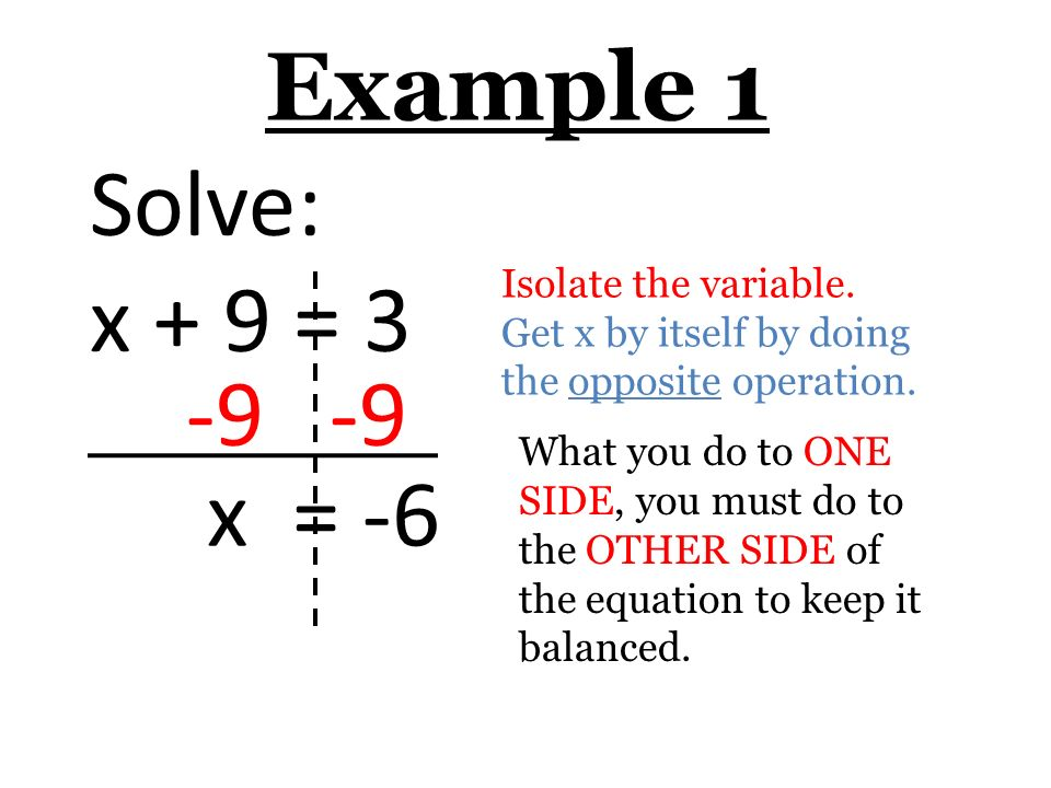 3 1 Solve One Step Equations Ppt Video Online Download