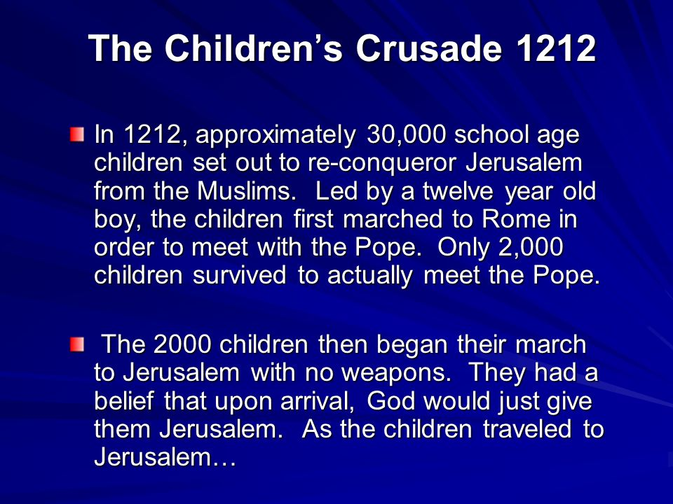 The Children's Crusade 1212