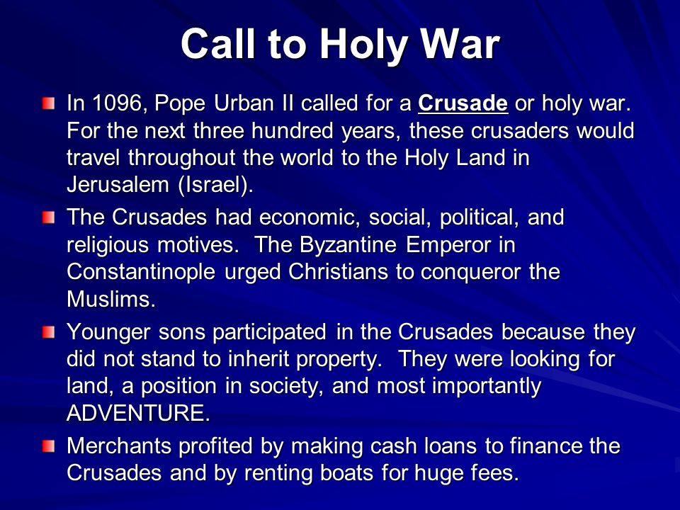 Call to Holy War