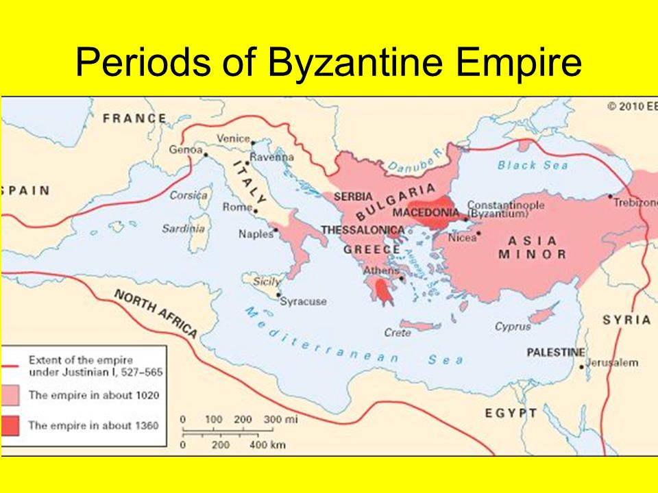 Periods of Byzantine Empire