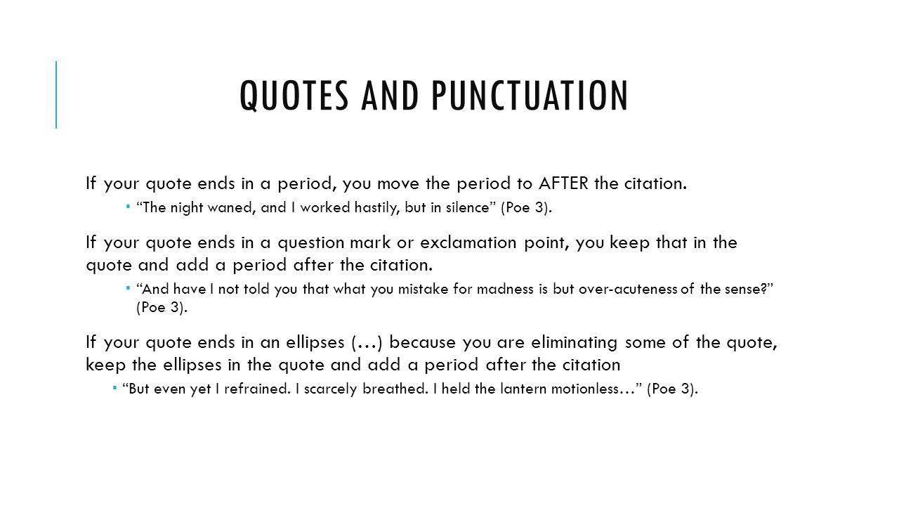 Quotes And Punctuation Evidence And Analysis Msspector Room Ppt Video Online Download