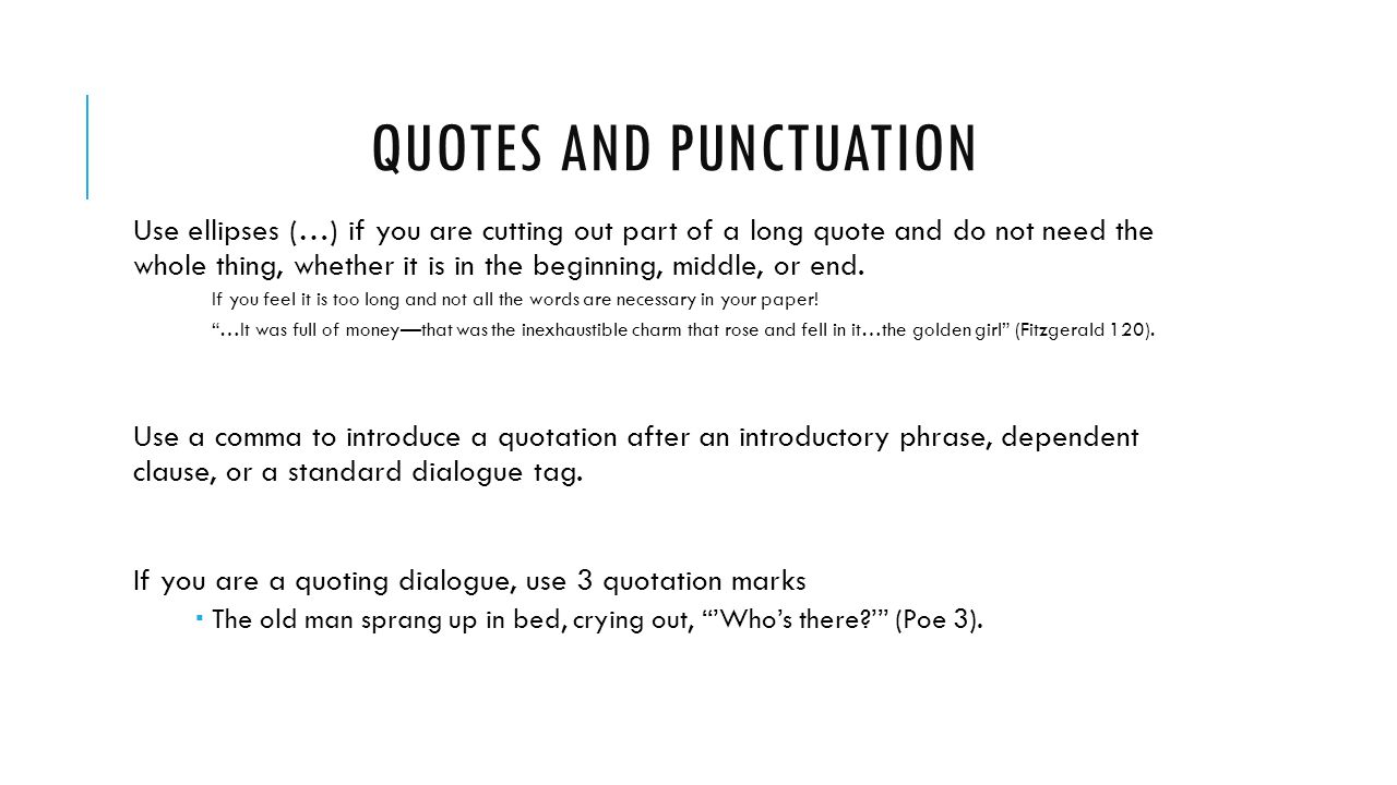 Quote Punctuation Quotes And Commas  Toreto.co