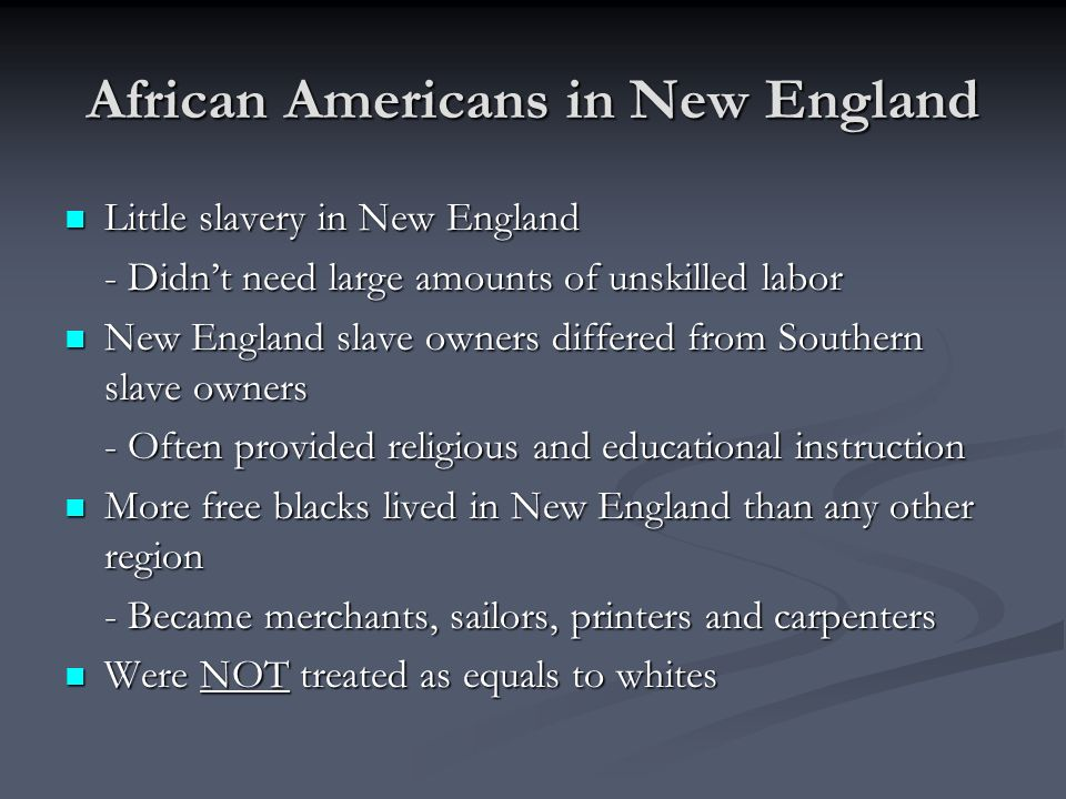 African Americans in New England