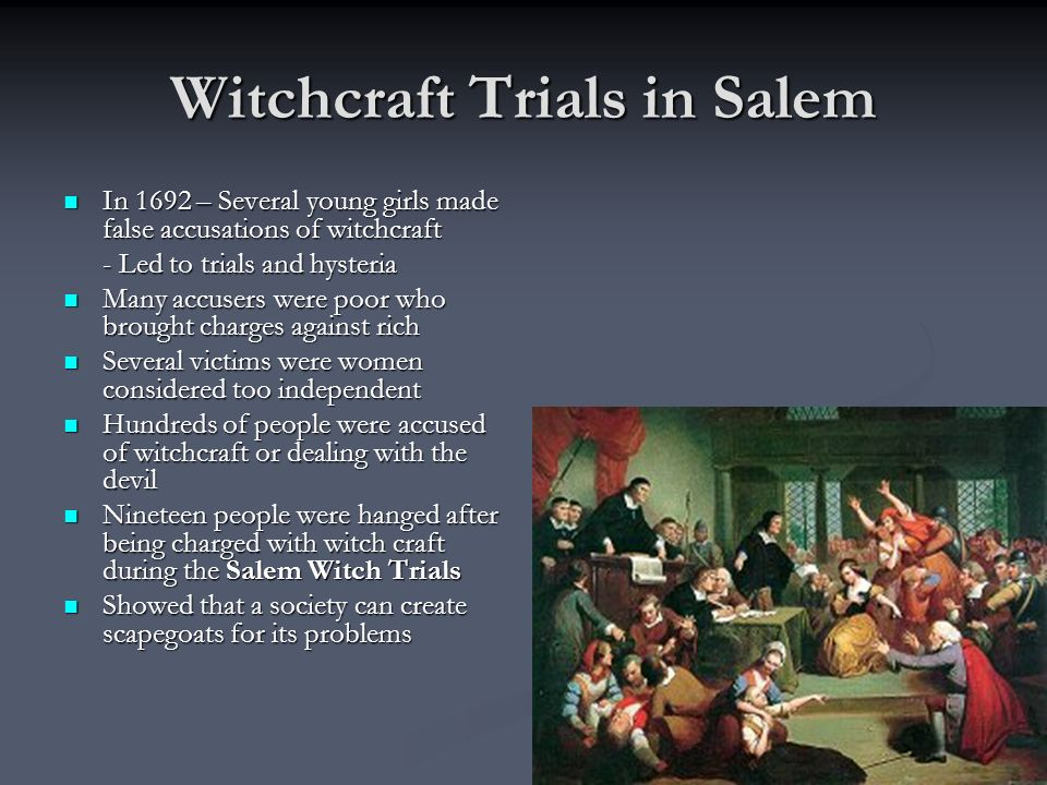 Witchcraft Trials in Salem