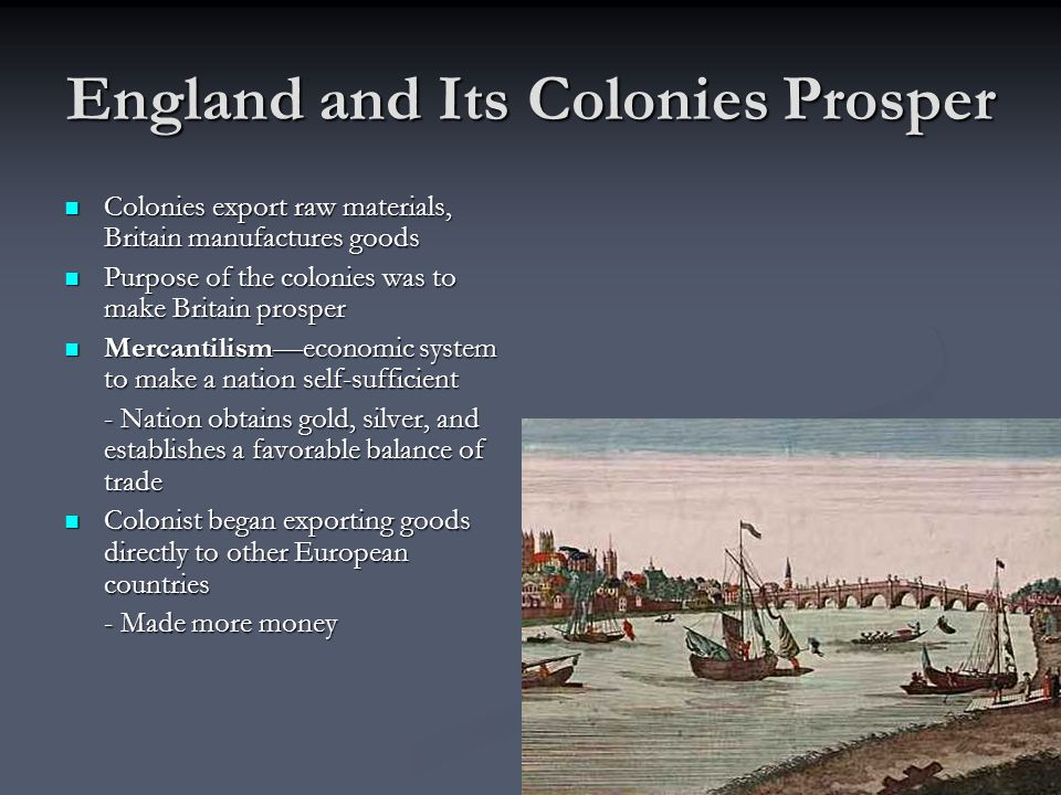 England and Its Colonies Prosper