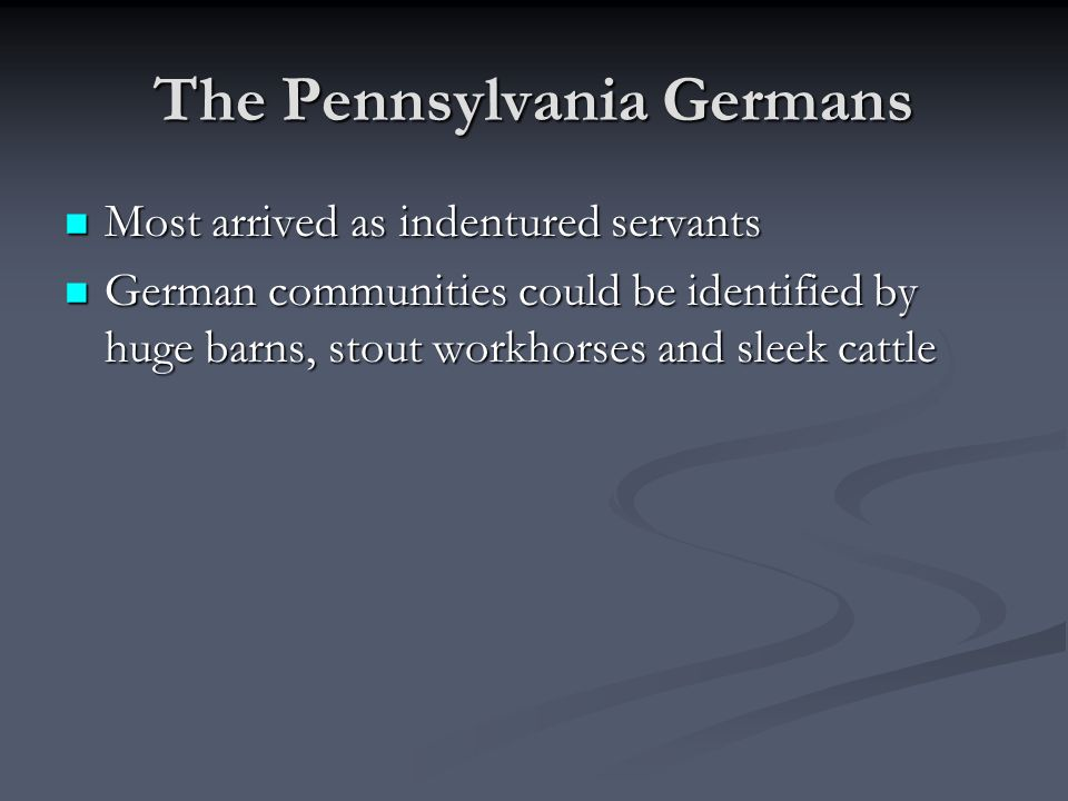 The Pennsylvania Germans