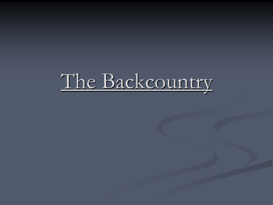 The Backcountry