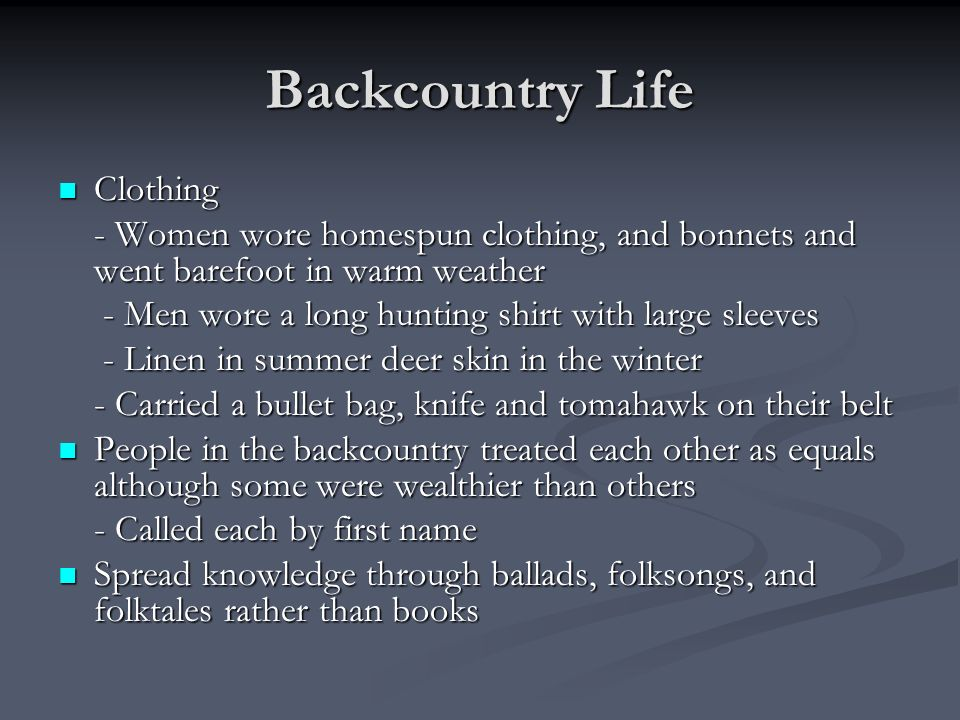 Backcountry Life Clothing