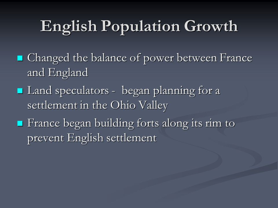 English Population Growth