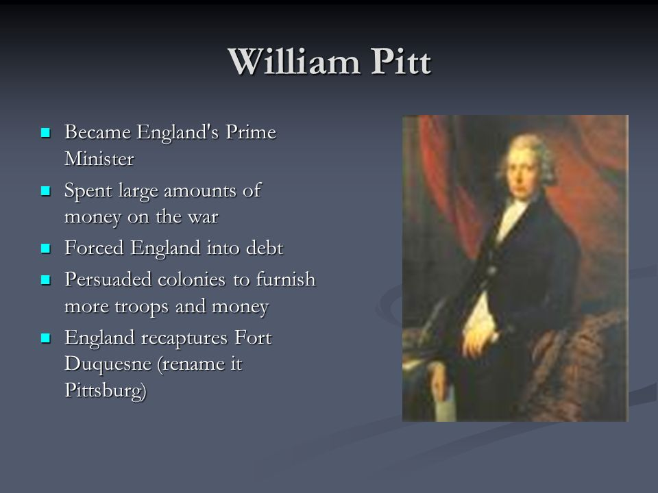 William Pitt Became England s Prime Minister