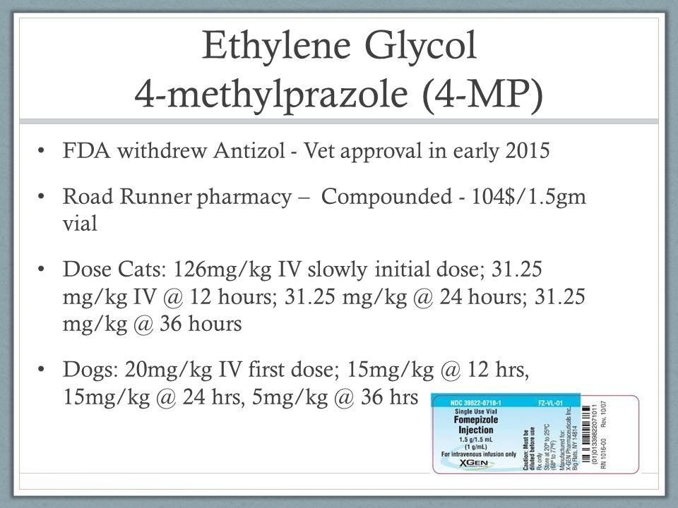 Ethylene Glycol 4-methylprazole (4-MP)
