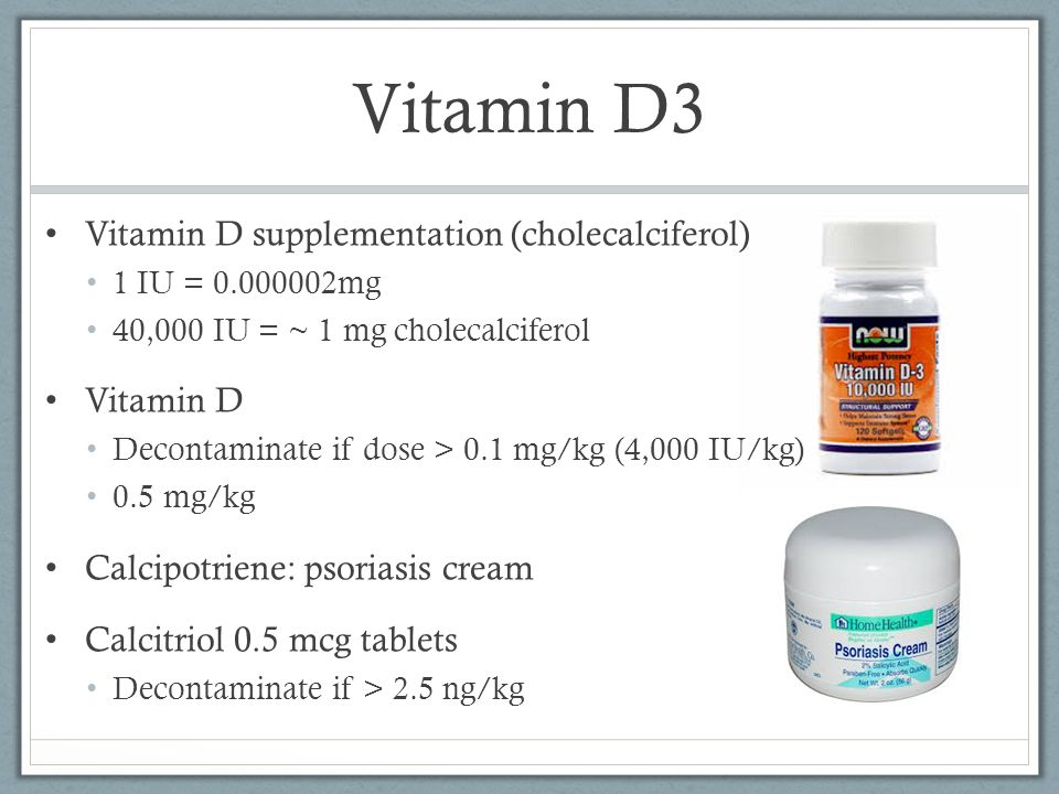 Vitamin D3 Vitamin D supplementation (cholecalciferol) Vitamin D
