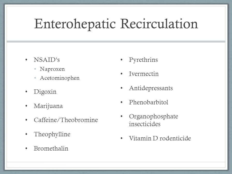Enterohepatic Recirculation