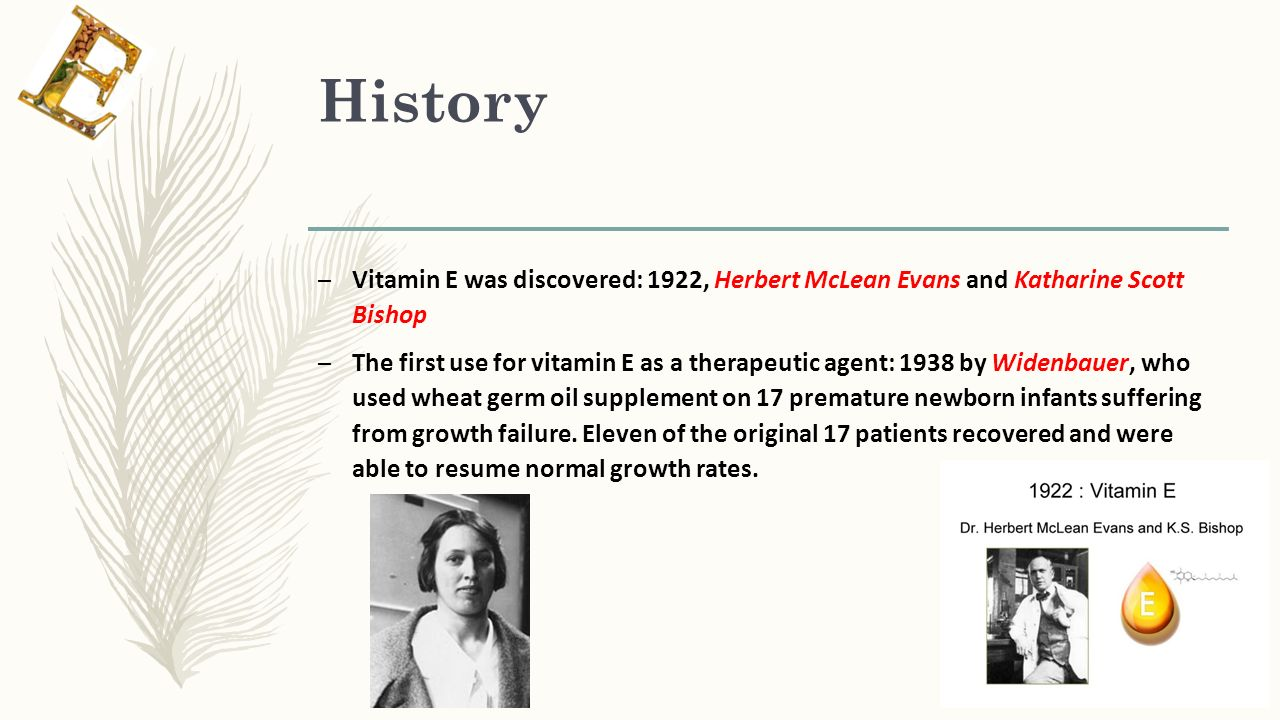 Making History With Vitamin C Powerpoint: In The Name Of God Vitamin E