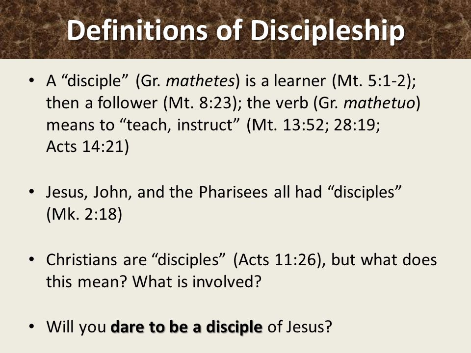 Exceptional Definitions Of Discipleship