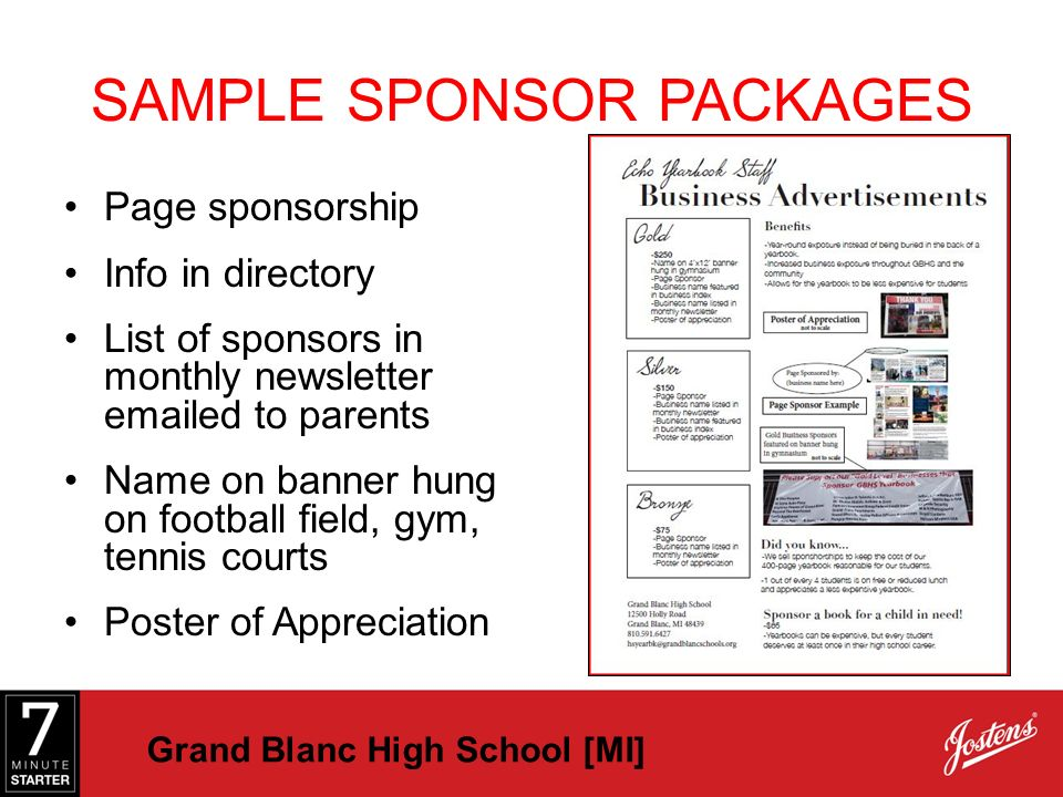 how to find a sponsor for school