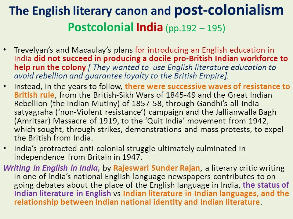 women writers in post colonial india english literature essay The english language is the place where writers can and must work out the problems they describe a two-part process through which writers in the post-colonial world the shadows of tribal creative literature, and now that same language of dominance bears the creative.