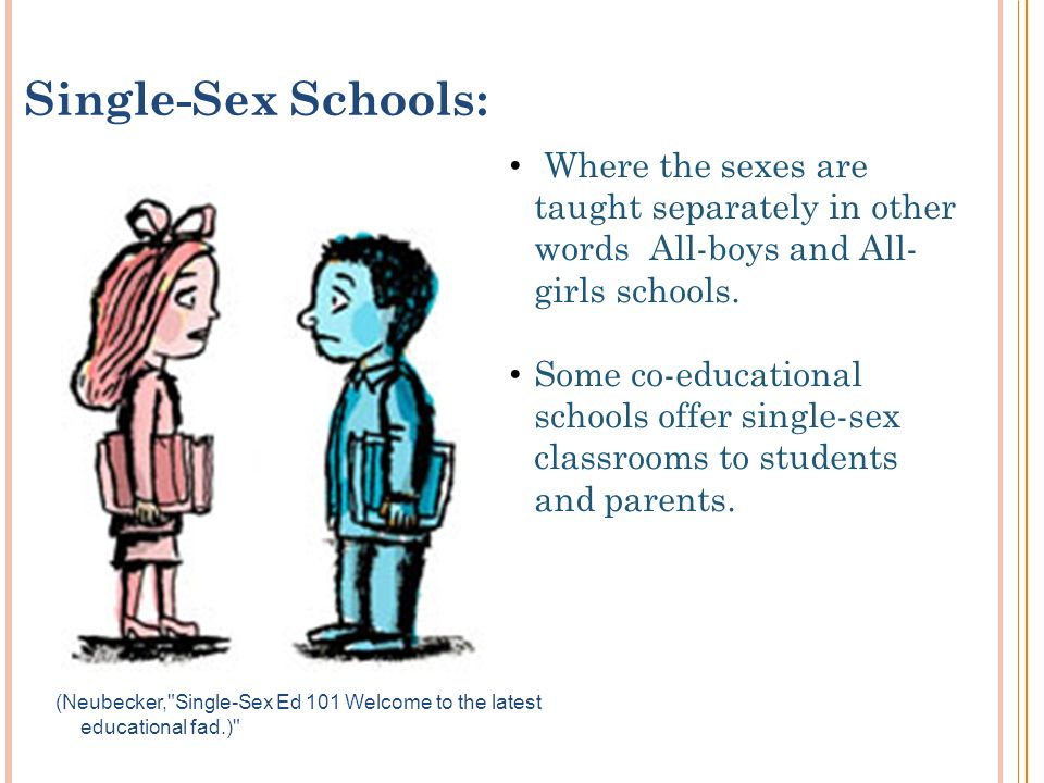 a comparison between co ed schools and single sex schools Join the mailing list it may still be hard to make the decision between a single-sex or coed school so how do you choose the right school for your child.