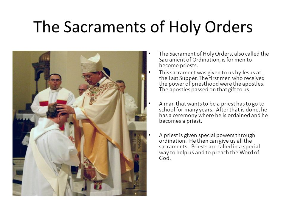 The Sacrament of Holy Orders: Priests of the New Sacrifice