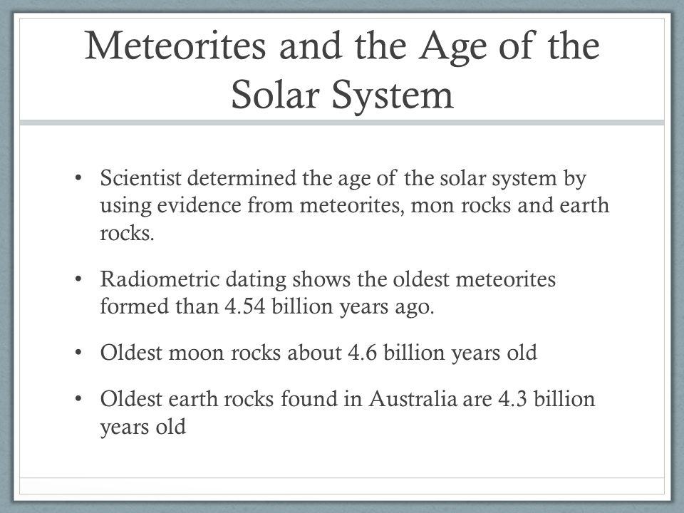 Radiometric dating of moon rocks nevada 1