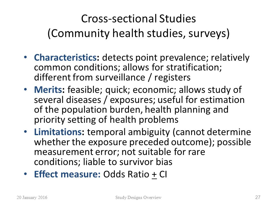 Study Designs In Health Research An Overview