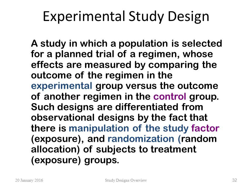 experimental study design