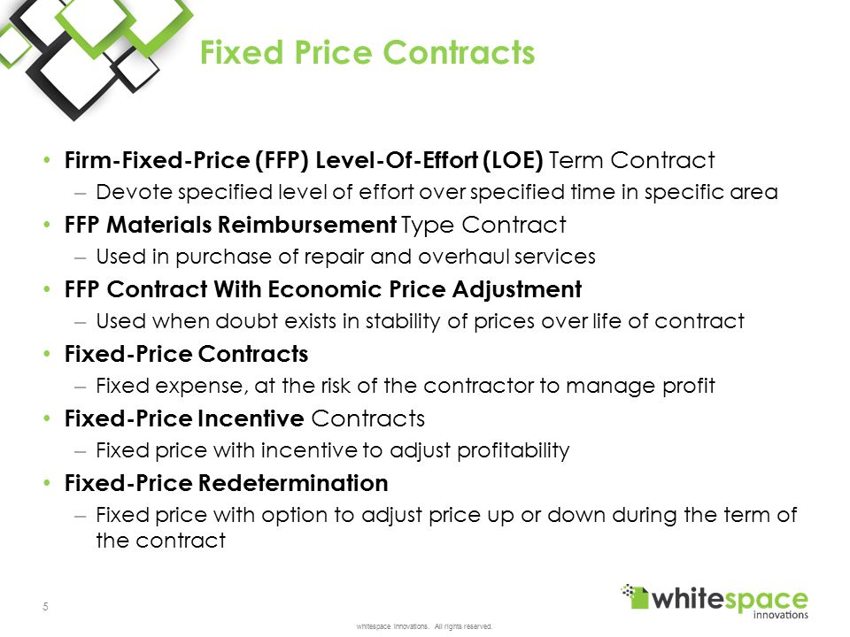 Contract types cost and pricing ppt video online download for Fixed price construction contract