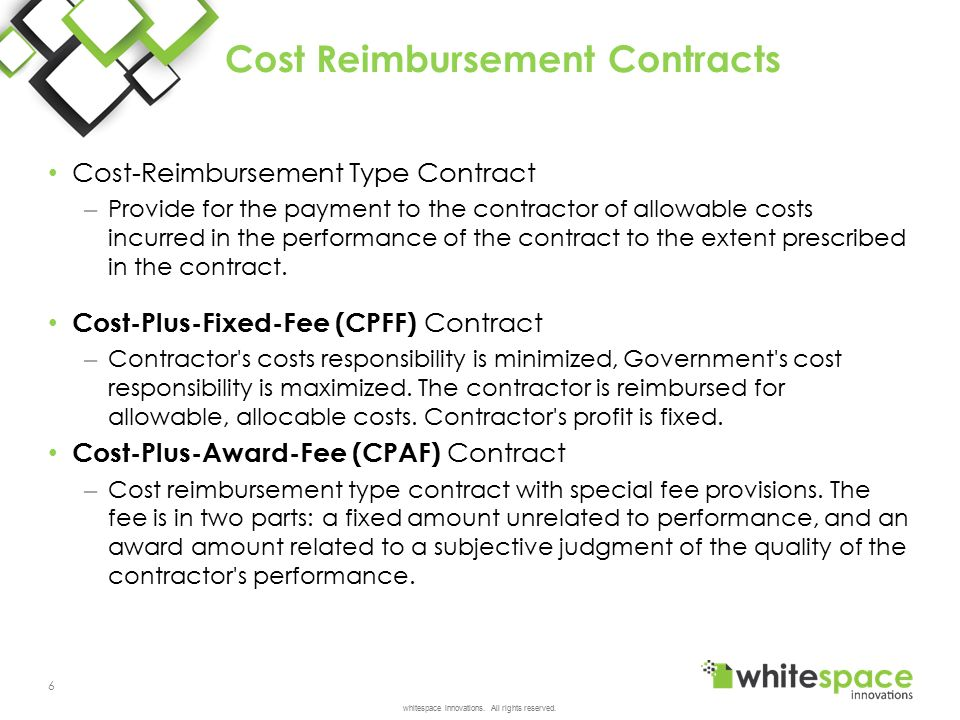 Contract types cost and pricing ppt video online download for Cost plus contract example