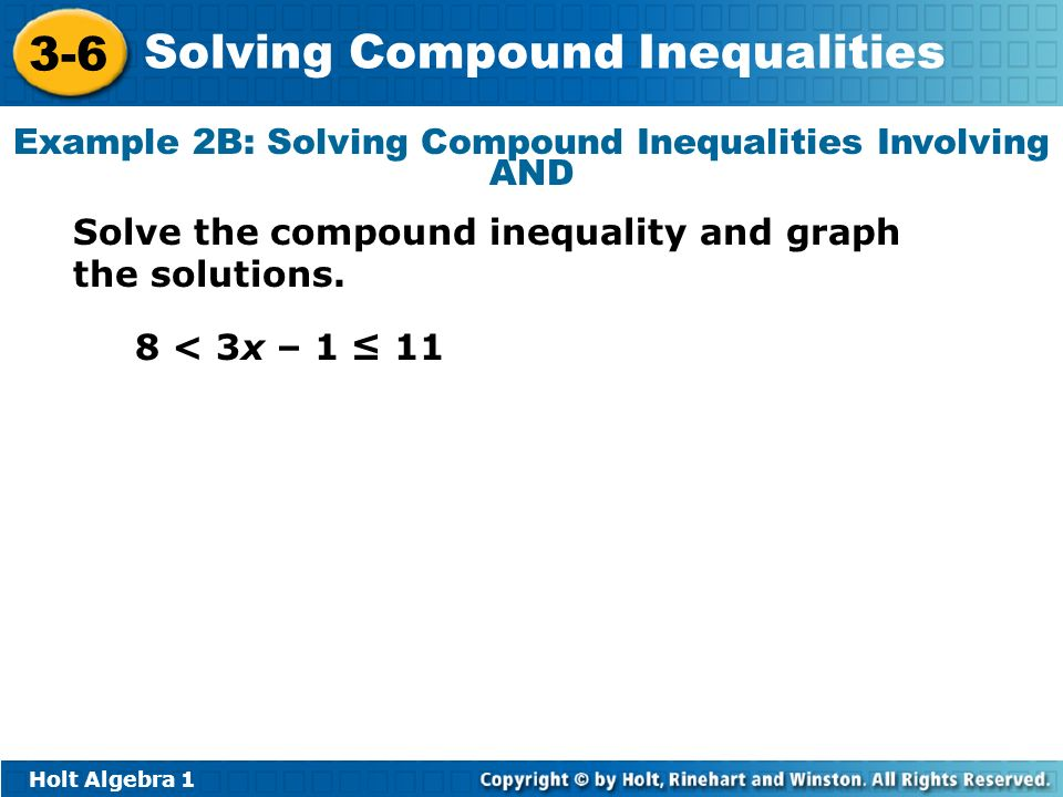 Objectives Solve compound inequalities with one variable. - ppt ...