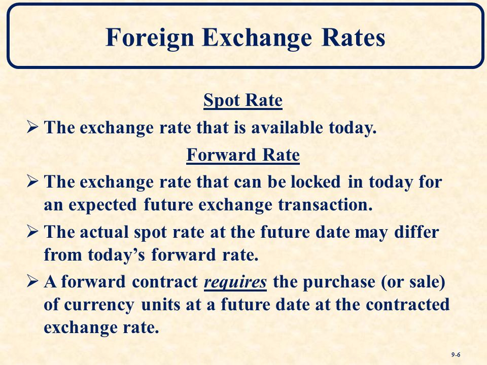 What is spot rate in foreign exchange : Lenscrafters online bill payment