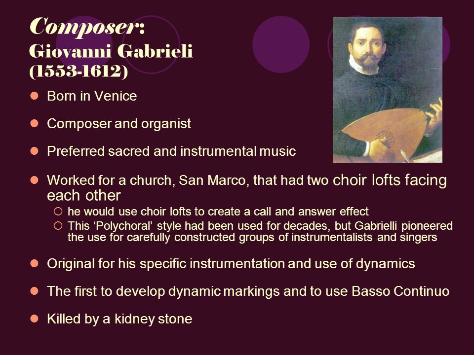 a history of the use of the organ in sacred music One of the ongoing controversies in parishes is what kind of music and instruments are  sacred music for the organ and  for sacred use,.